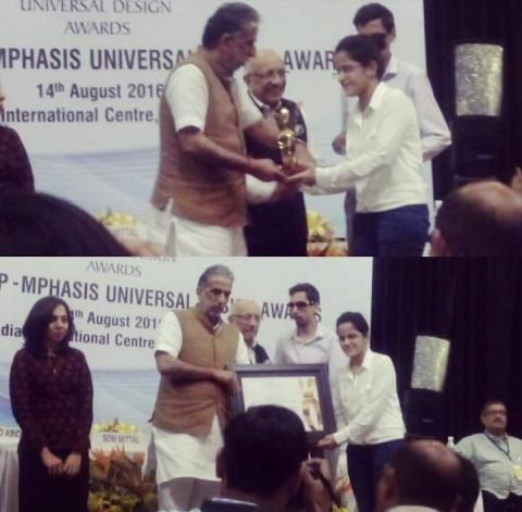 7th NCPEDP Mphasis Universal Design Awards to Mr. Danish Mahajan