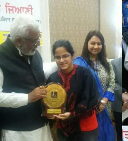 Punjab State Award to Ms. Divya Sharma